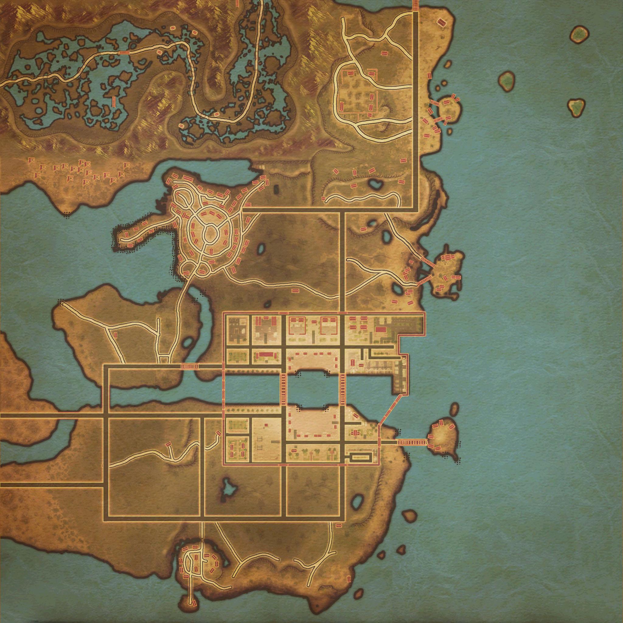 游戏地图——各城镇地图